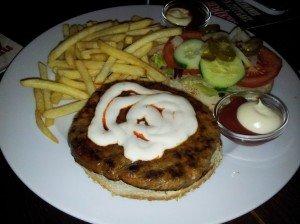 Bild vom Burger im Hacienda