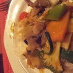 Essen mit Pilzen...