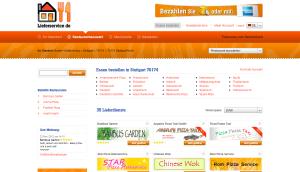 Screenshot der Auswahlseite