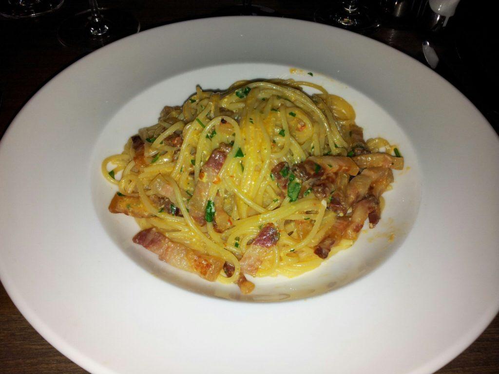 Bild meiner Spaghetti Carbonara im Primafila Stuttgart