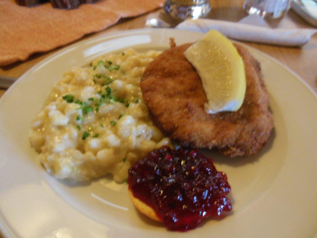 Bild von meinem Cordon bleu mit Kässpätzle im Panoramarestaurant Elfer