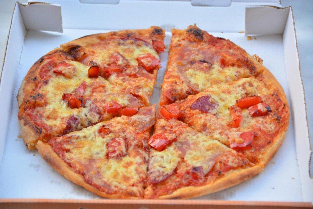 Pizza Calabria + Paprika zusätzlich von Noor Pizza Stuttgart