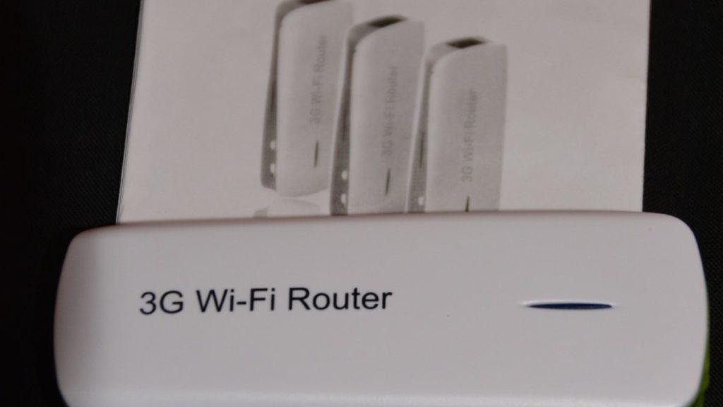 Bild vom 3G Wifi Router mit Anleitung