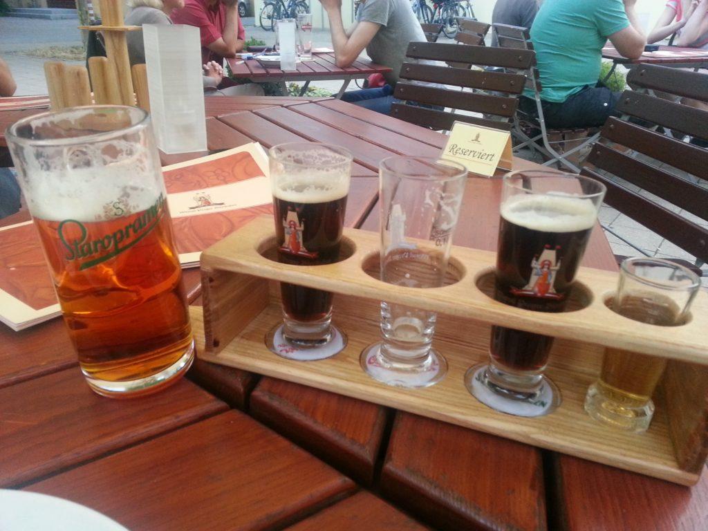 Böhmisches Quartett - 3x 0,1 l Bier nach Wahl und ein Kräuter
