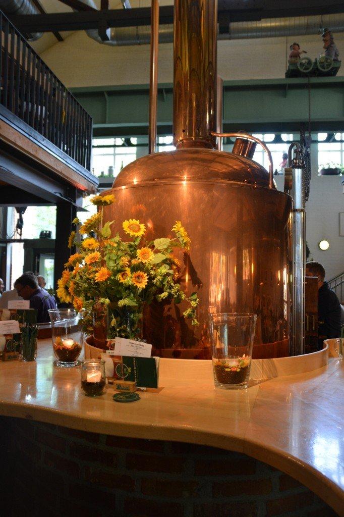Bild eines Bierkessels im Brauhaus Wichtel in Feuerbach