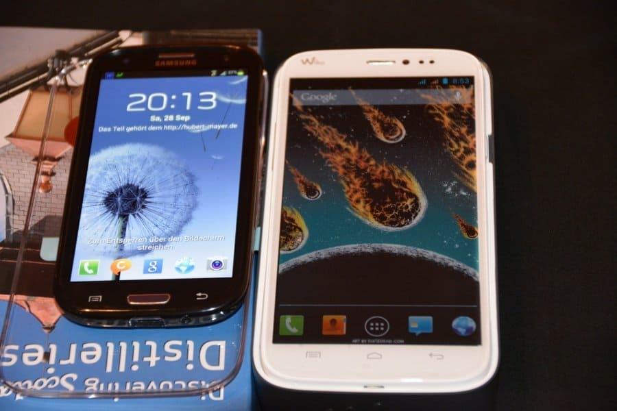 Bild vom Wiko Darkside im Vergeich zum Samsung S3