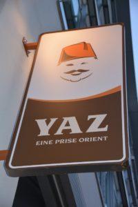 Schild vom YAZ