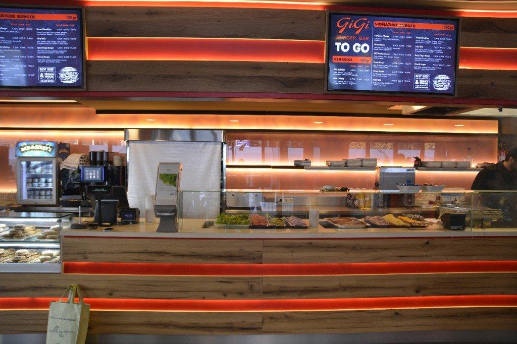 Theke im Gigi Burger Bar Stuttgart