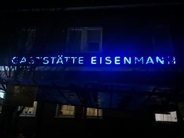 Bild von außen von der Gaststätte Eisenmann in Vaihingen-Rohr