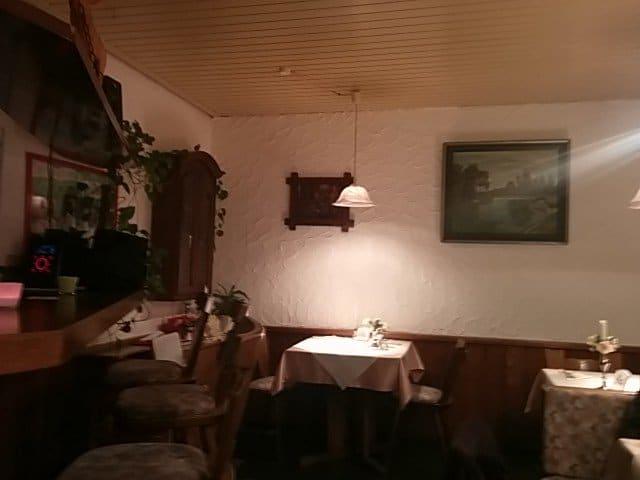 Teil dse Gastraums der Gaststätte Eisenmann