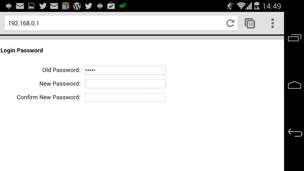 Einfacher Dialog zum Passwort ändern beim M5350