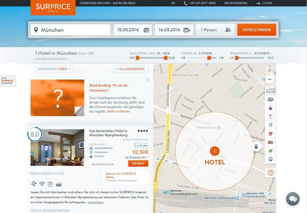 Hotel nach Auswahl