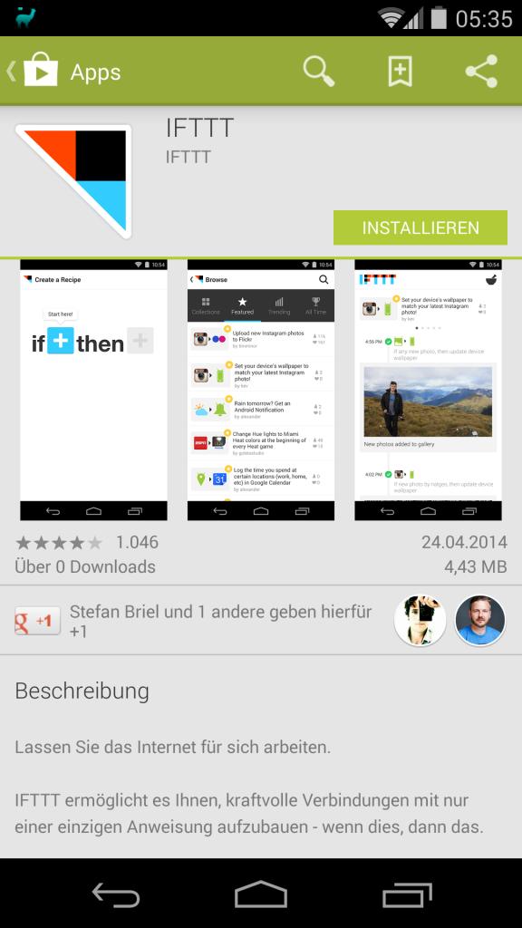 IFTTT für Android