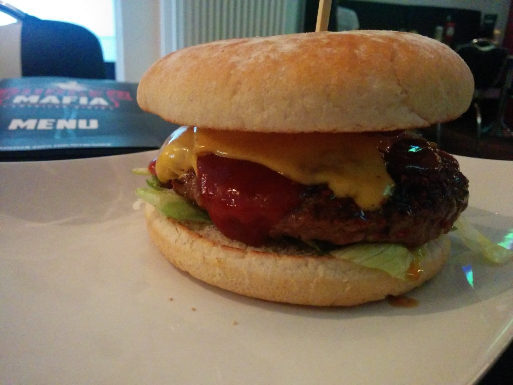 Mafia Extra Hot Angus Burger im Burger Mafia Saarbrücken