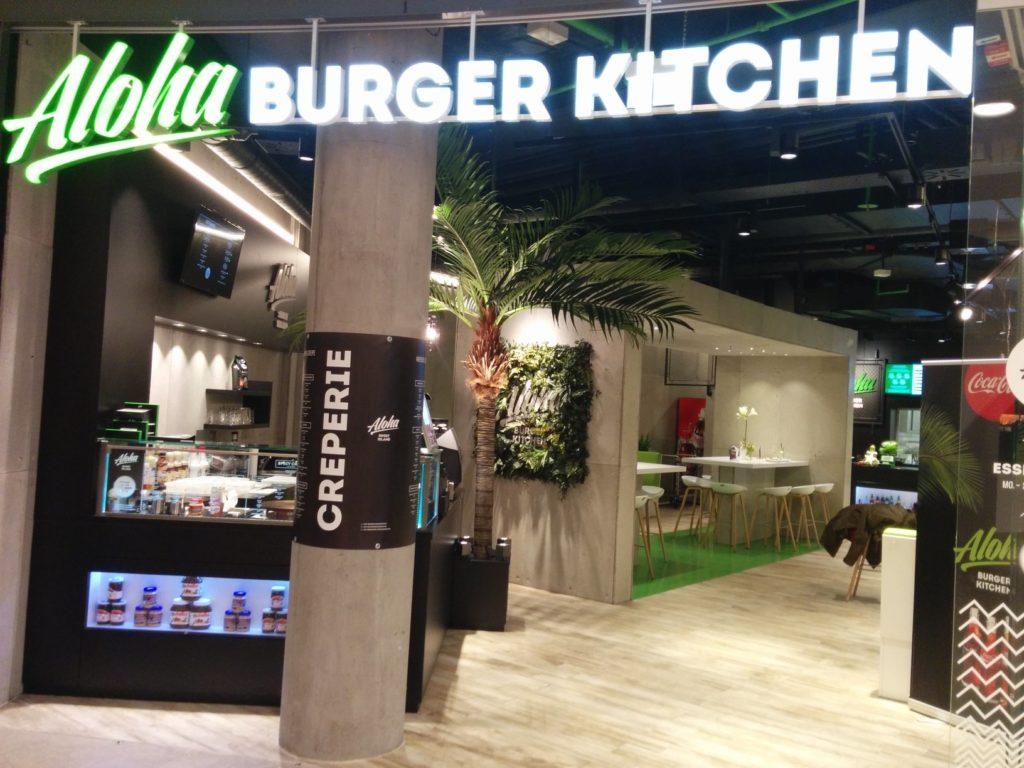 Eingang zum Aloha Burger Kitchen im Gerber Stuttgart