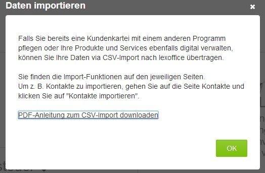 Infos zum Kundenkarteiexport (bzw. Import) nach Lexoffice