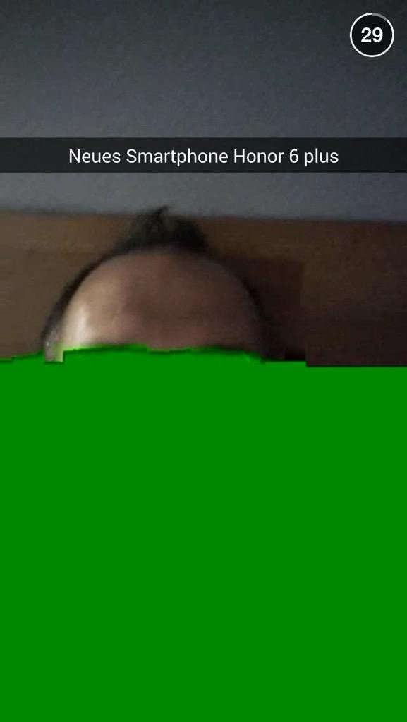 Screenshot aus Snapchat