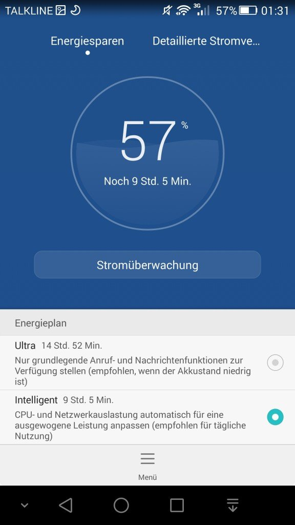 Stromsparoptionen des Honor 6+