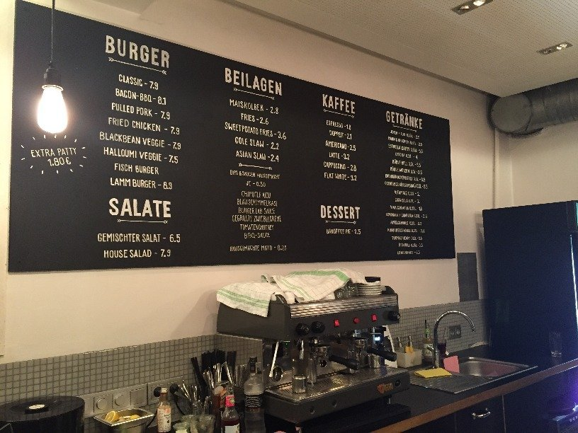 Auswahl im The Burger Lab Hamburg