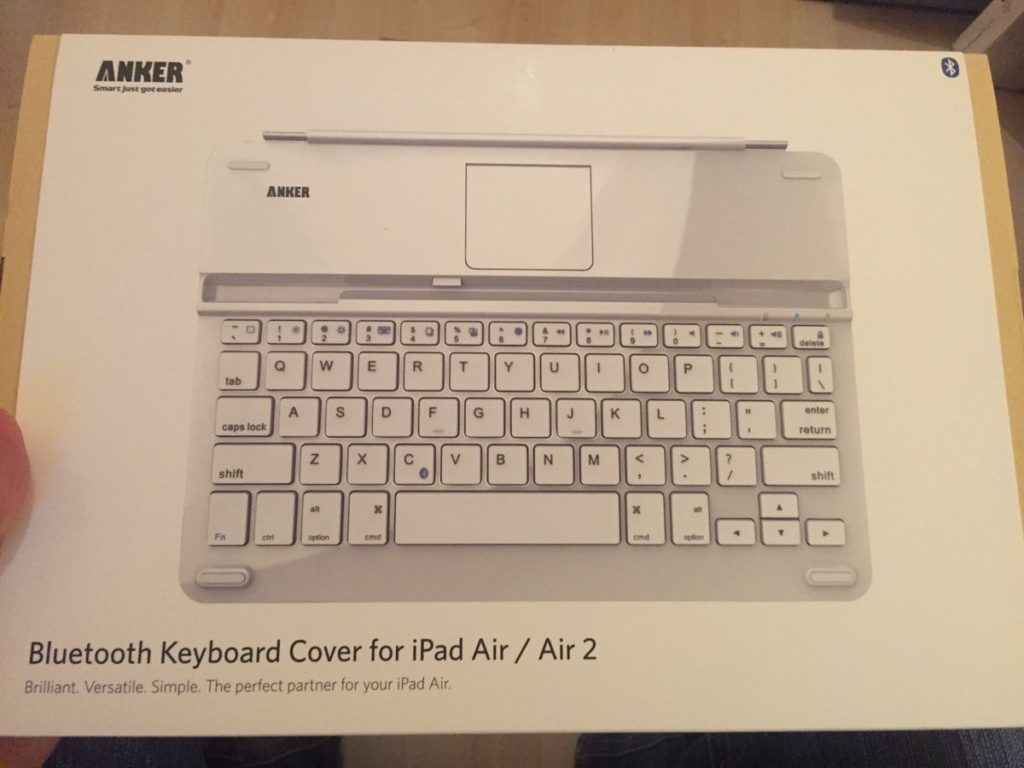 Nett verpackt ist die Anker TC 930 Bluetooth-Tastatur für das iPad Air 2 / iPad Air