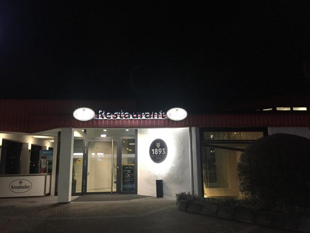 Das 1893 - VfB Clubrestaurant von außen