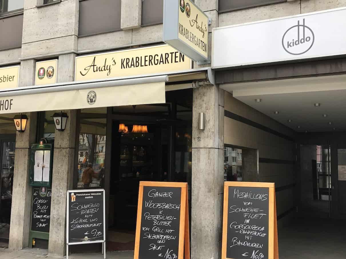 Andy's Krablergarten in München von außen