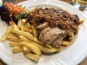 Schnitzel Mexiko in Andy's Krablergarten in München