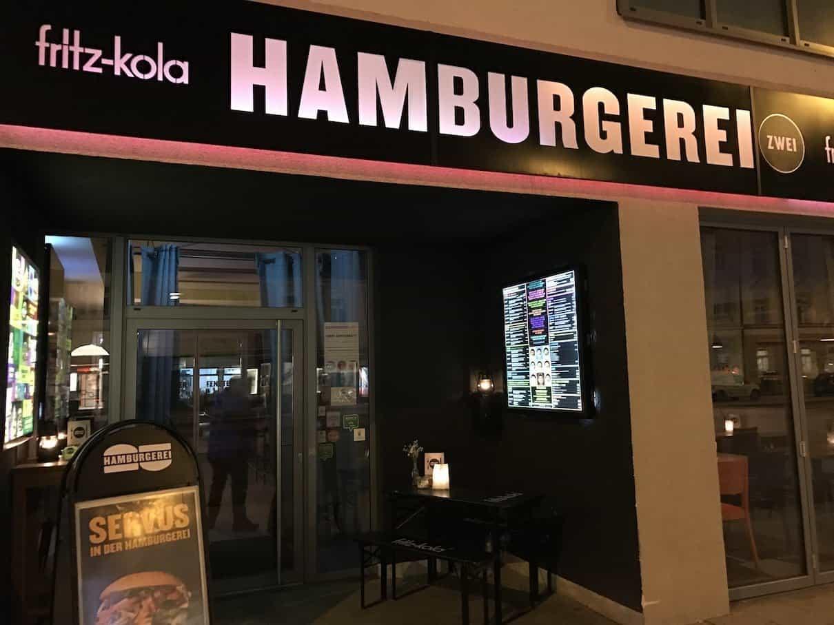 Die Hamburgerei Zwei von außen