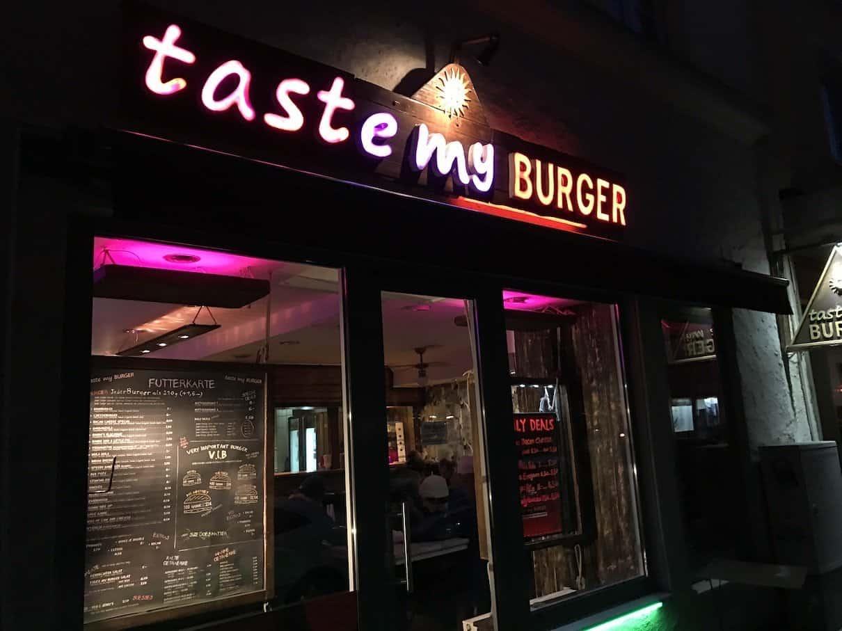taste my burger München von außen