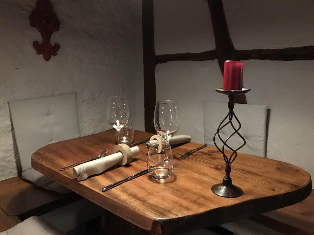Unser Tisch im Restaurant Hofer - Der Südtiroler in Gerlingen