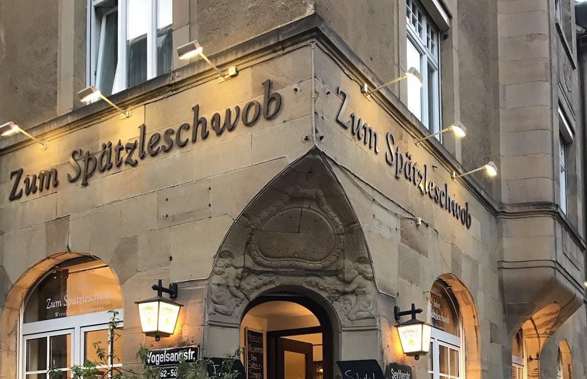 """Das Restaurant """"Zum Spätzleschwob"""" von außen"""