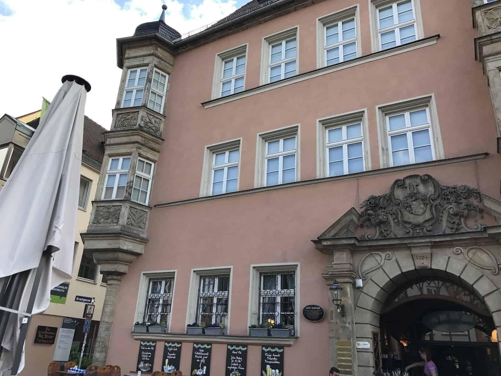 Restaurant Oskar im alten Rathaus von Bayreuth