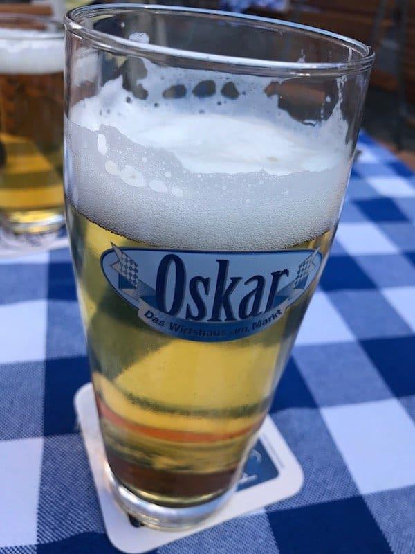 Hauseigenes Bier im Oskar Bayreuth