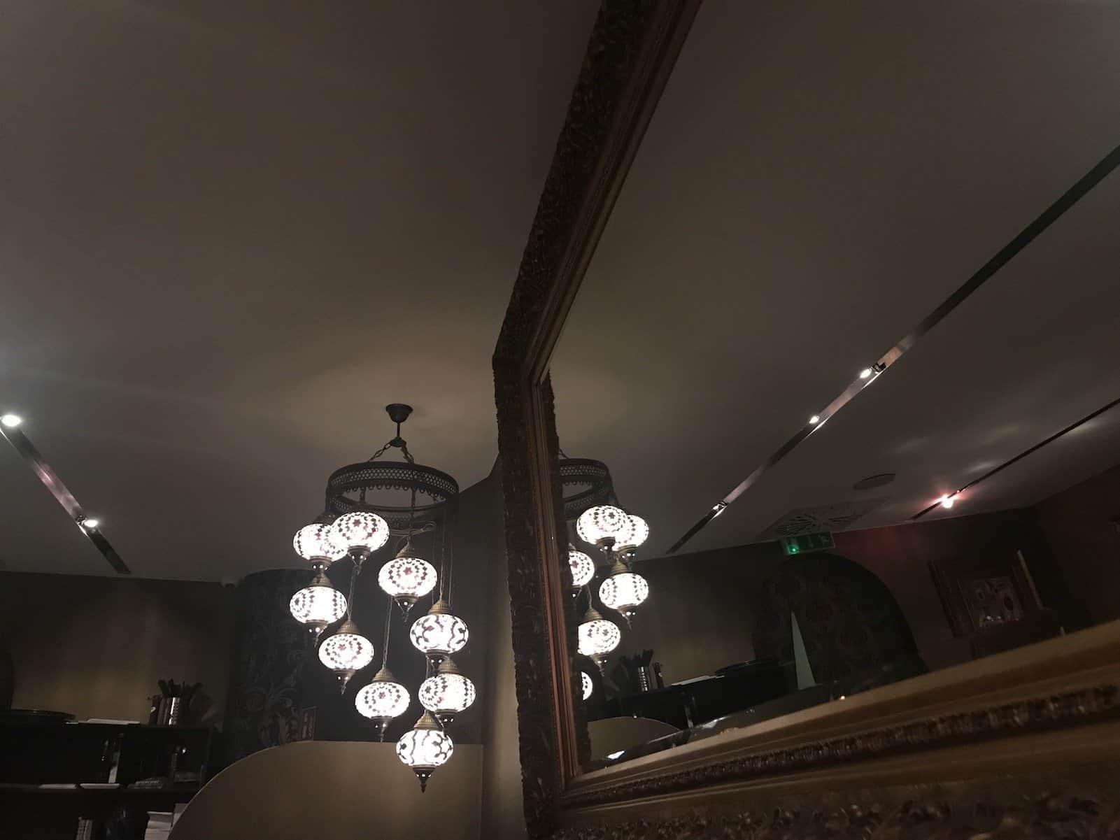 Lampe im Sultan Saray in der Lautenschlagerstrasse in Stuttgart
