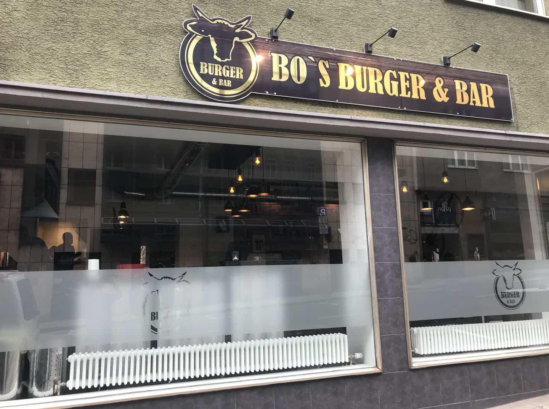 Bo's Burger & Bar von außen in der Schwabstrasse Stuttgart