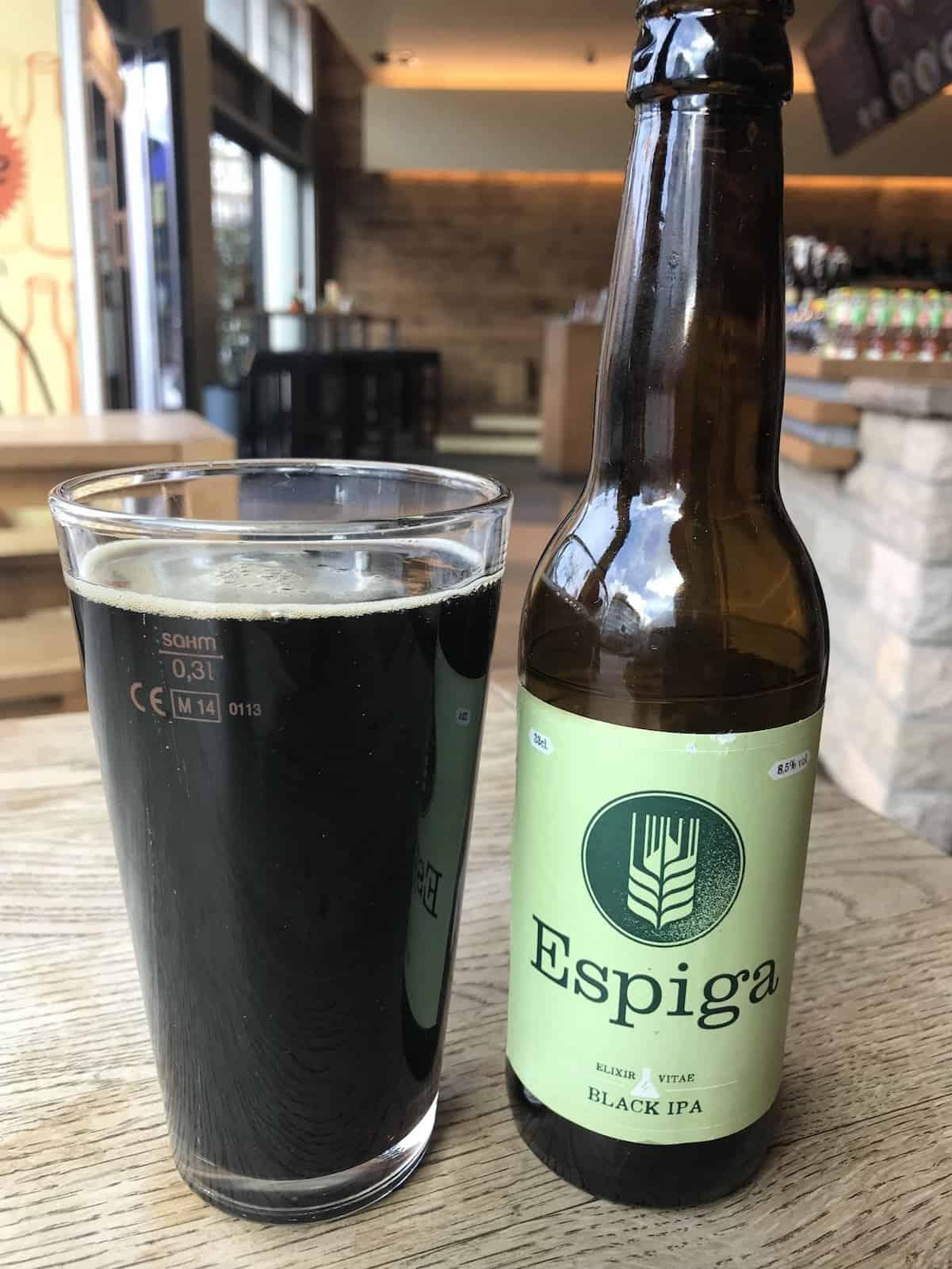 Espiga Black IPA ist derzeit im Kühlschrank vorhanden