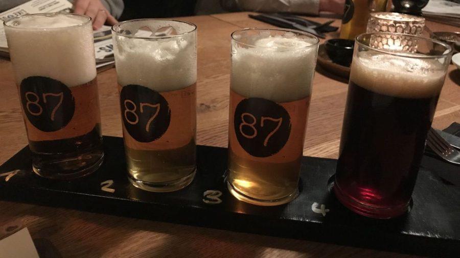 Tasting Tray basic im 87 - 4 Biere a 0,1 l vom Fass