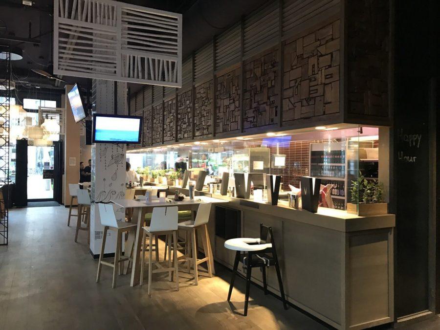 Verglaste Küche im GinYuu Stuttgart