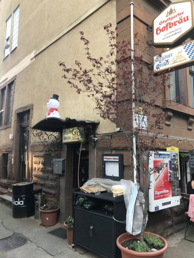 Eingang zum Allgäuer Stüble im Stuttgarter Westen