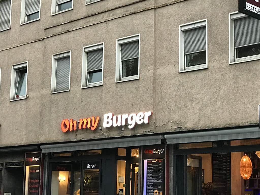 Das Oh my Burger von außen