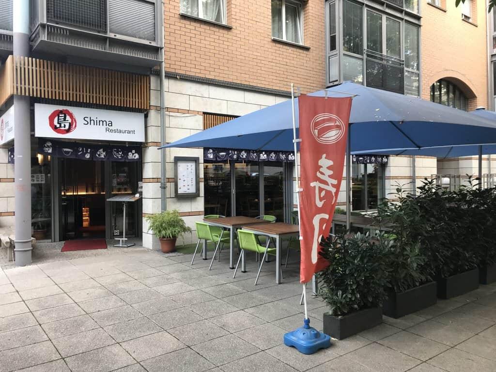 Das japanische Restaurant Shima in Stuttgart am Mozartplatz von außen
