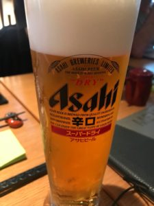 Asahi Bier (vom Fass) im Shima Stuttgart