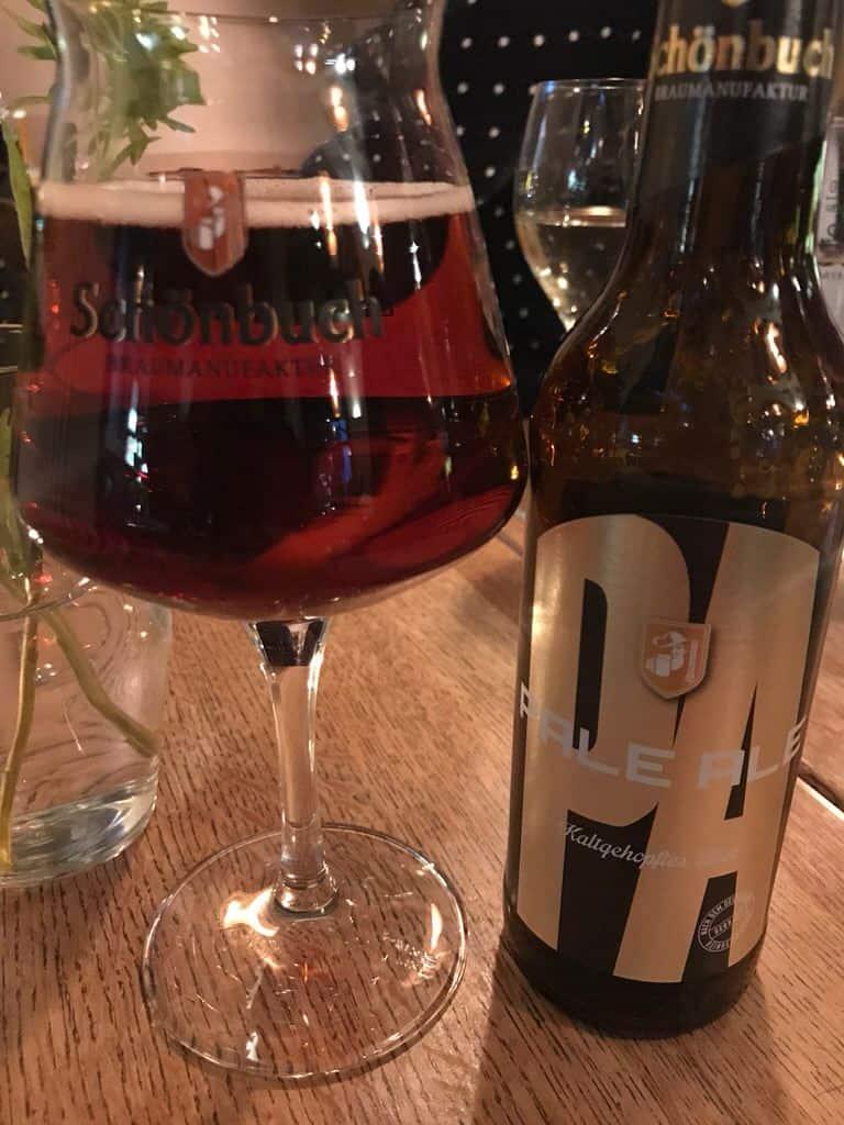 Pale Ale von Schönbuch im spanischen Restaurant rote kapelle Stuttgart