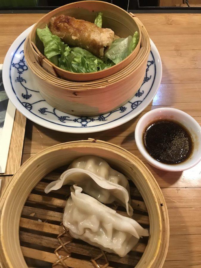 Vietnamesische Frühlingsrolle im coa Stuttgart und Dumplings