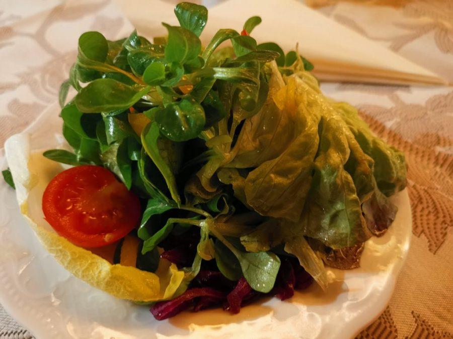 Beilagensalat in der Traube