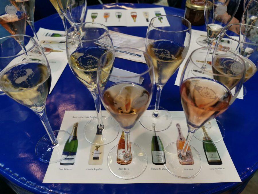 Eine Champagner Probe haben wir auch gemacht auf der Slow Food 2019