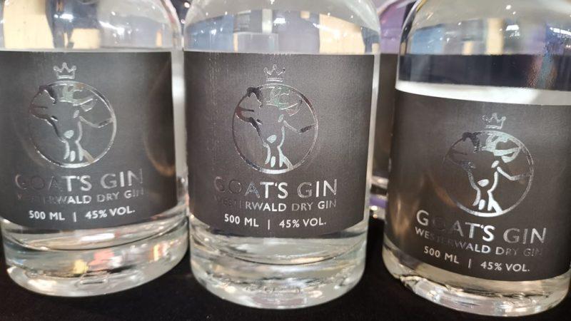 Goat's Gin - sehr lecker, wurde auch gekauft dann auf der Slow Food 2019