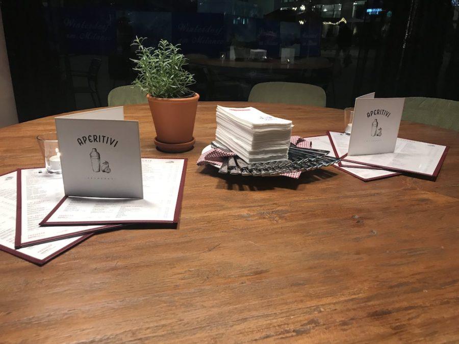 Tisch in der L'Osteria Stuttgart