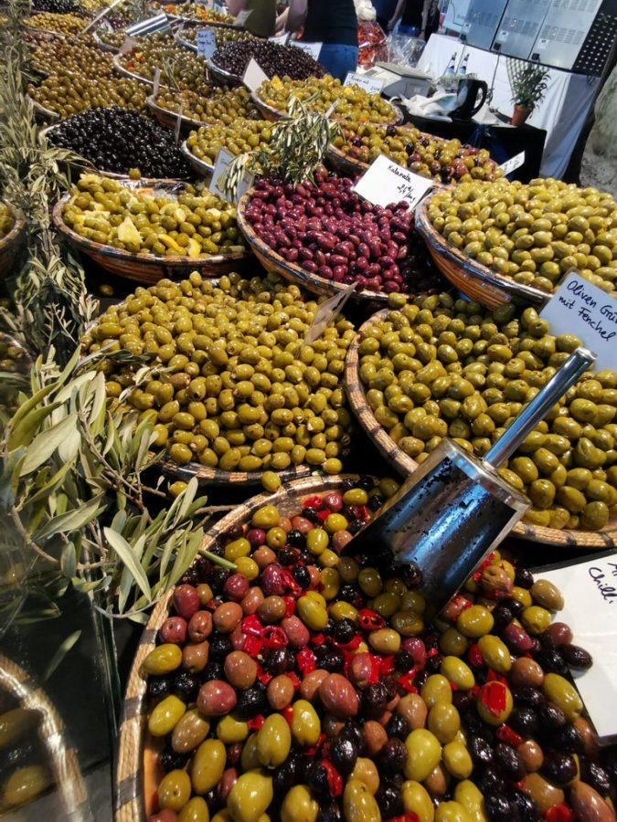 Immer wieder ein faszinierender Anblick für mich auf der Slow Food - obwohl ich Oliven nicht mag