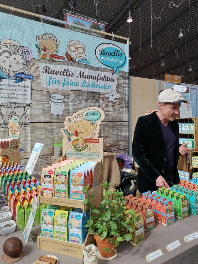 Christian Schmitt von Ravellis mit seinen leckeren Kürbiskernen auf der Slowfood 2019
